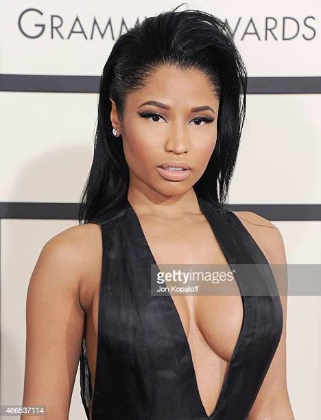 Singer Nicki Minaj arrives at the 57th GRAMMY Awards at Staples Center on February 8 2015 in Los Angeles California
