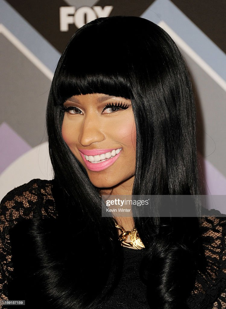 Singer <a gi-track='captionPersonalityLinkClicked' href=/galleries/search?phrase=Nicki+Minaj+-+Performer&family=editorial&specificpeople=6362705 ng-click='$event.stopPropagation()'>Nicki Minaj</a> arrives at the FOX All-Star Party at the Langham Huntington Hotel on January 8, 2013 in Pasadena, California.