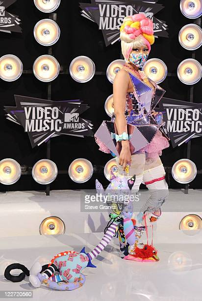 Singer Nicki Minaj arrives at the The 28th Annual MTV Video Music Awards at Nokia Theatre LA LIVE on August 28 2011 in Los Angeles California