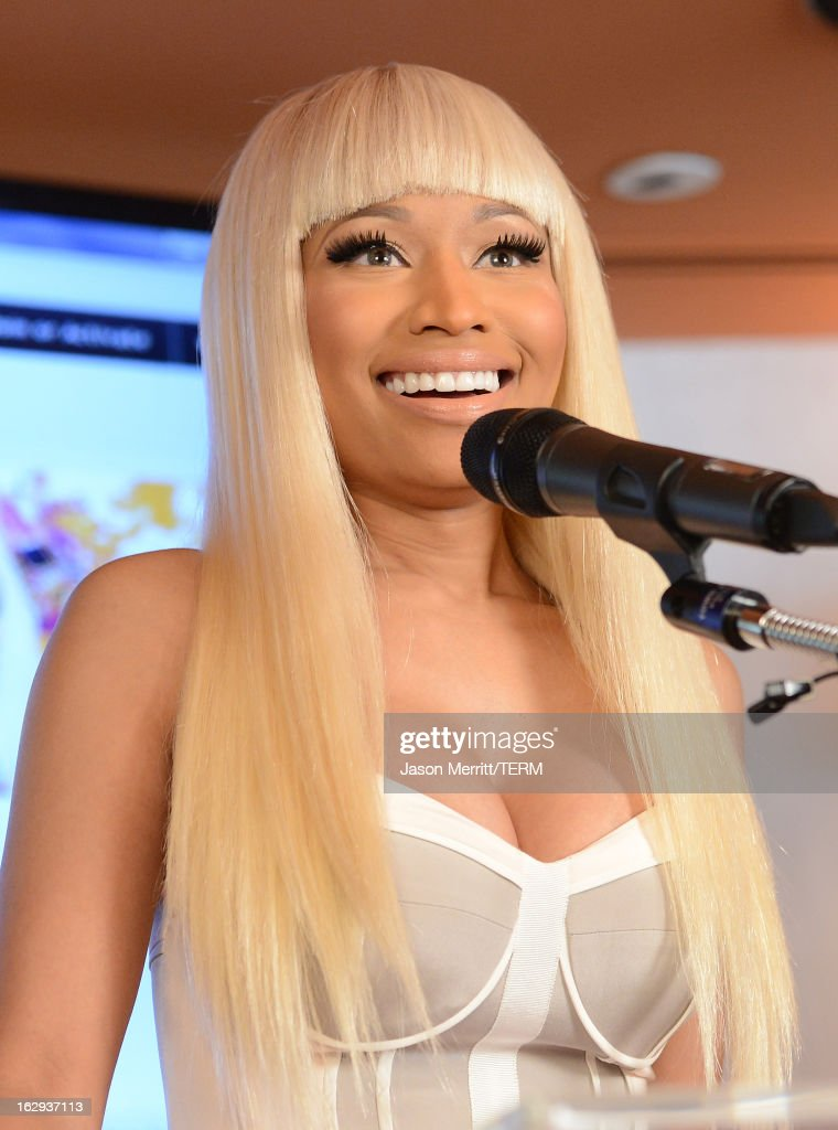 Singer <a gi-track='captionPersonalityLinkClicked' href=/galleries/search?phrase=Nicki+Minaj+-+Performer&family=editorial&specificpeople=6362705 ng-click='$event.stopPropagation()'>Nicki Minaj</a> attends her Kmart collection private event at Fig & Olive Melrose Place on March 1, 2013 in West Hollywood, California.