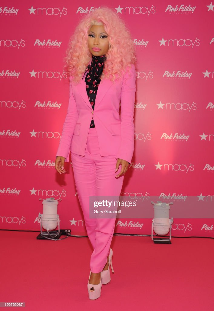Singer Nicki Minaj attends Nicki Minaj's 'Pink Friday' Fragrance Holiday Season Celebration at Macy's Queens Center on November 20, 2012 in New York City.