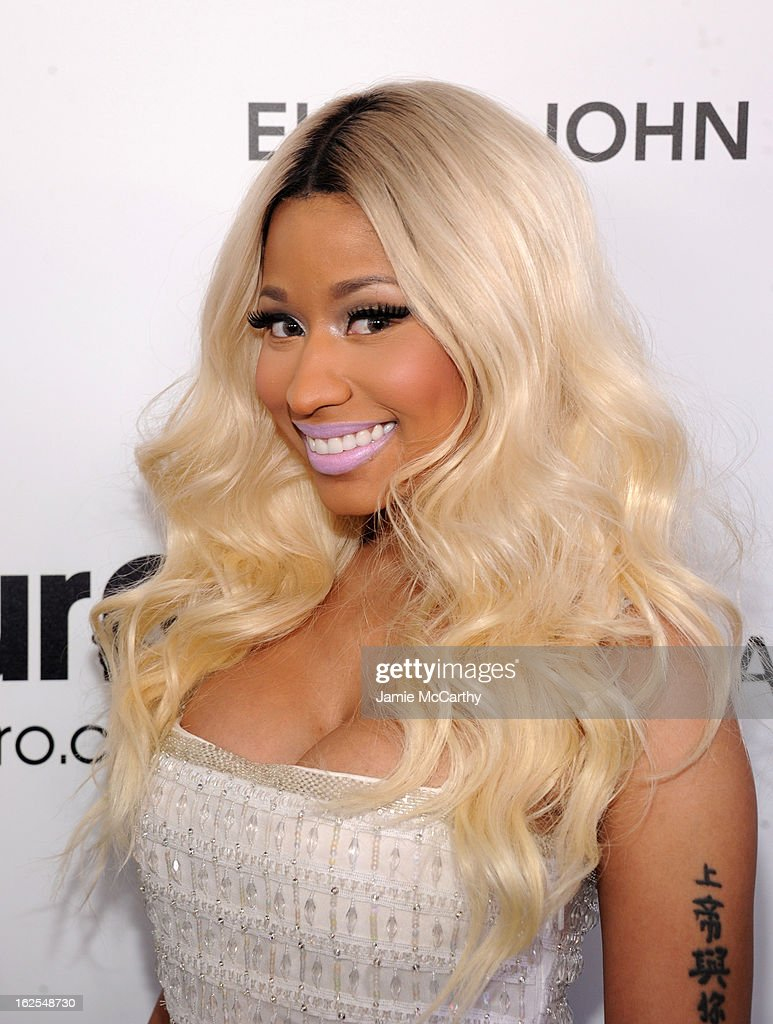 Singer Nicki Minaj attends the 21st Annual Elton John AIDS Foundation Academy Awards Viewing Party at West Hollywood Park on February 24, 2013 in West Hollywood, California.