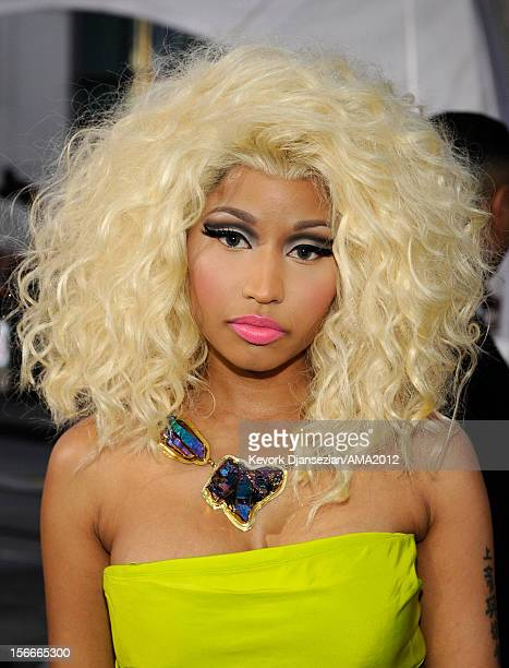 Singer Nicki Minaj attends the 40th American Music Awards held at Nokia Theatre LA Live on November 18 2012 in Los Angeles California