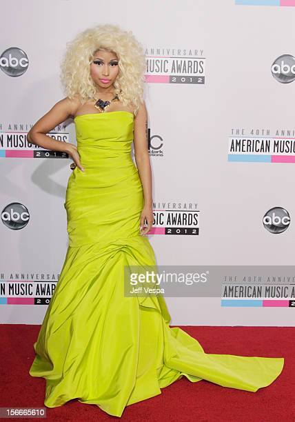 Singer Nicki Minaj attends the 40th Anniversary American Music Awards held at Nokia Theatre LA Live on November 18 2012 in Los Angeles California