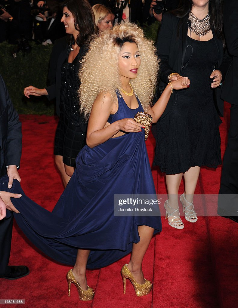 Singer Nicki Minaj attends the Costume Institute Gala for the 'PUNK: Chaos to Couture' exhibition at the Metropolitan Museum of Art on May 6, 2013 in New York City.