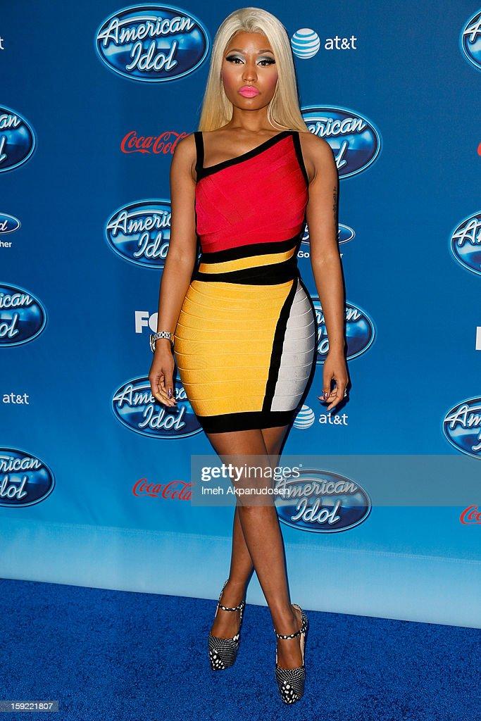 Singer Nicki Minaj attends the season premiere screening of Fox's 'American Idol' at Royce Hall, UCLA on January 9, 2013 in Westwood, California.