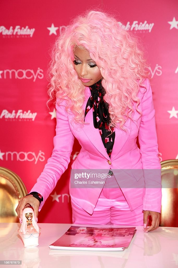 Singer <a gi-track='captionPersonalityLinkClicked' href=/galleries/search?phrase=Nicki+Minaj+-+Artista&family=editorial&specificpeople=6362705 ng-click='$event.stopPropagation()'>Nicki Minaj</a> introduces 'Pink Friday' Fragrance Holiday Season Celebration at Macy's Queens Center on November 20, 2012 in the Queens borough of New York City.