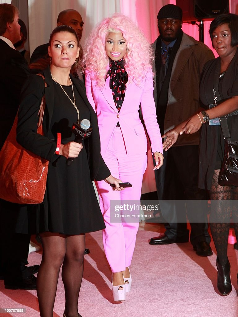 Singer Nicki Minaj introduces 'Pink Friday' Fragrance Holiday Season Celebration at Macy's Queens Center on November 20, 2012 in the Queens borough of New York City.
