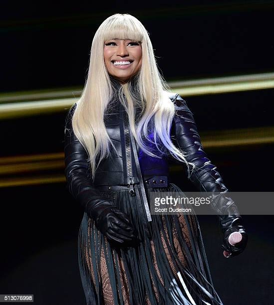 Singer Nicki Minaj performs onstage at The Forum on February 28 2016 in Inglewood California
