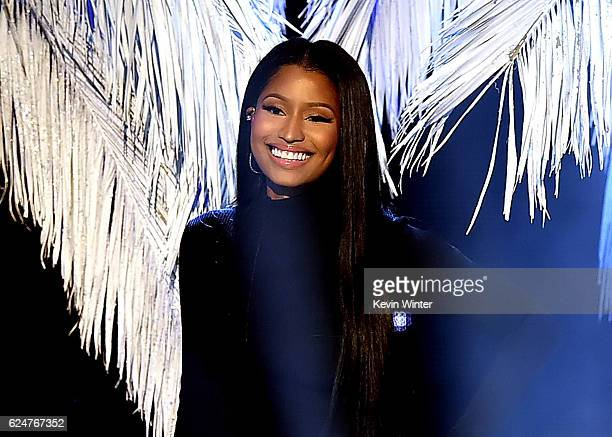 Singer Nicki Minaj performs onstage during the 2016 American Music Awards at Microsoft Theater on November 20 2016 in Los Angeles California