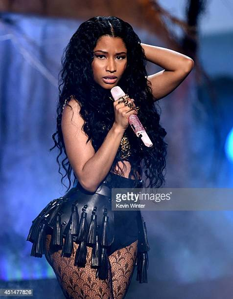Singer Nicki Minaj performs onstage during the BET AWARDS '14 at Nokia Theatre LA LIVE on June 29 2014 in Los Angeles California