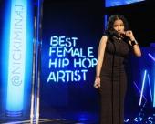 Singer Nicki Minaj speaks onstage during the BET AWARDS '14 at Nokia Theatre LA LIVE on June 29 2014 in Los Angeles California