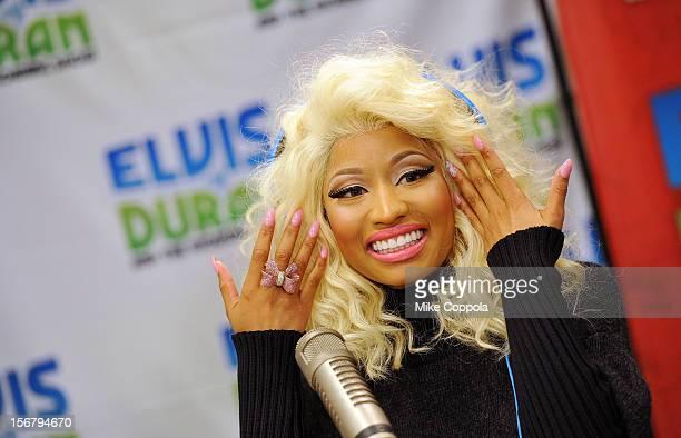Singer Nicki Minaj visits at Z100 Studio on November 21 2012 in New York City