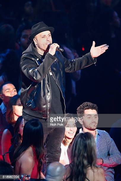 Singer Nicky Jam performs onstage during the iHeartRadio Music Awards at The Forum on April 3 2016 in Inglewood California