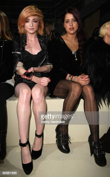 Singer Nicola Roberts and socialite Peaches Geldof attend the Topshop Unique show at London Fashion Week Spring/Summer 2010 Runway on September 20...
