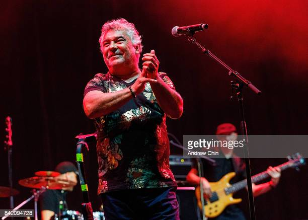 Singer Nicolas Reyes of The Gipsy Kings performs on stage during Summer Night Concert Series at PNE Amphitheatre on September 2 2017 in Vancouver...