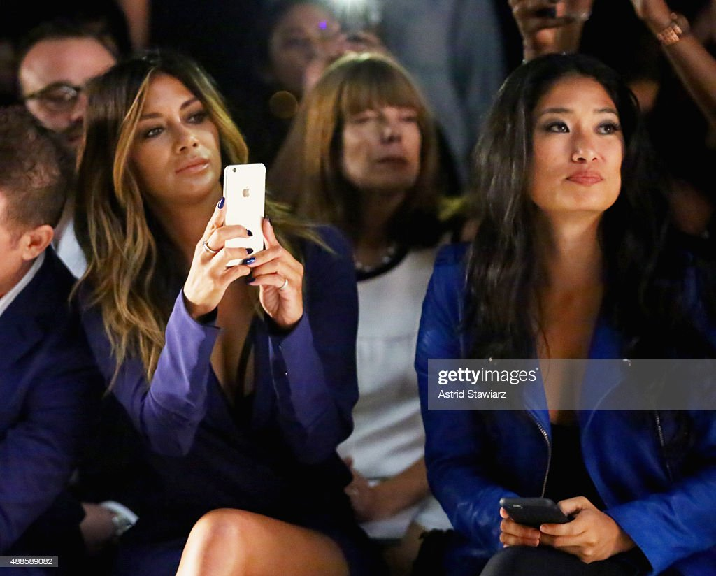 Singer Nicole Scherzinger L and pianist Chloe Flower attend Thomas Wylde Sp