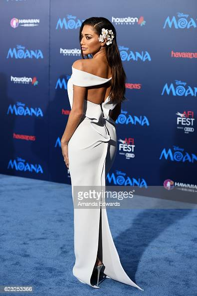 Singer Nicole Scherzinger arrives at the AFI FEST 2016 Presented By Audi premiere of Disney's 'Moana' at the El Capitan Theatre on November 14 2016...