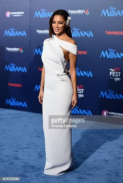Singer Nicole Scherzinger arrives at the AFI FEST 2016 Presented By Audi premiere of Disney's 'Moana' at the El Capitan Theatre on November 14 2016...