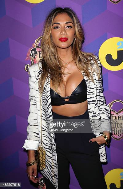 Singer Nicole Scherzinger attends Just Jared's Way to Wonderland presented by Ever After High at Greystone Manor Supperclub on August 27 2015 in West...