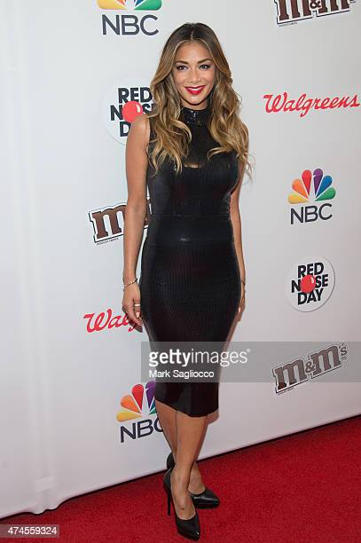 Singer Nicole Scherzinger attends the 2015 Red Nose Day Charity Event at the Hammerstein Ballroom on May 21 2015 in New York City