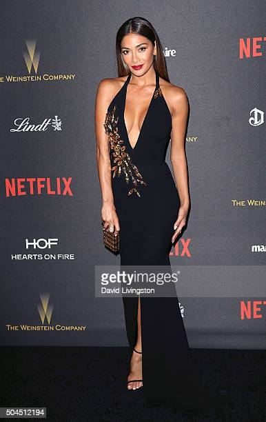Singer Nicole Scherzinger attends the 2016 Weinstein Company and Netflix Golden Globes after party on January 10 2016 in Los Angeles California
