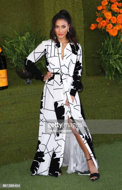 Singer Nicole Scherzinger attends the 8th Annual Veuve Clicquot Polo Classic at Will Rogers State Historic Park on October 14 2017 in Pacific...