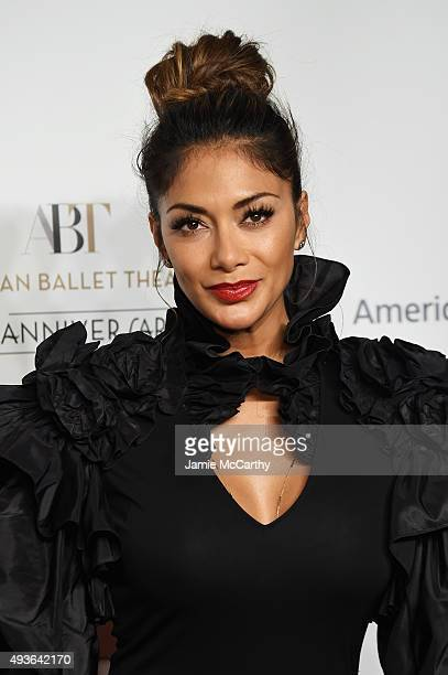 Singer Nicole Scherzinger attends the American Ballet 75th Anniversary Fall Gala at David H Koch Theater at Lincoln Center on October 21 2015 in New...