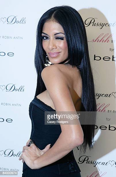 Singer Nicole Scherzinger attends the Bebe Event to Launch Pussycat Dolls Lingerie 'shhh' by Robin Antin on December 3 2008 in Beverly Hills...