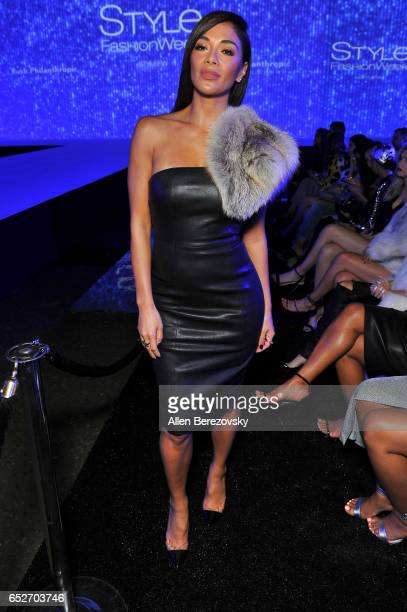 Singer Nicole Scherzinger attends the debut of Thomas Wylde's 'Warrior II' collection at Pacific Design Center on March 12 2017 in West Hollywood...