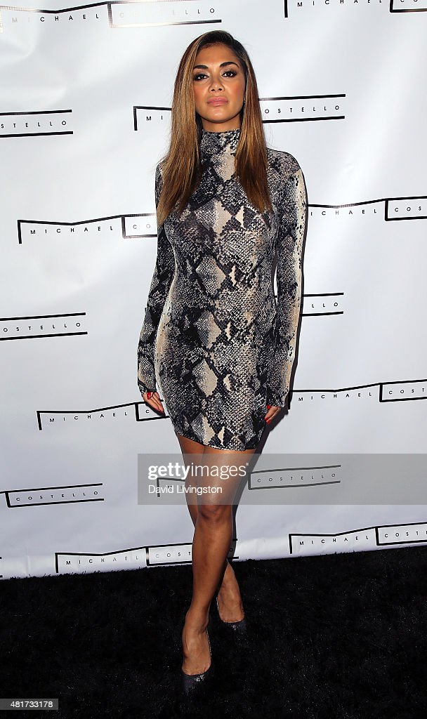 Singer Nicole Scherzinger attends the Michael Costello and Style PR Capsule Collection launch party on July 23, 2015 in Los Angeles, California.