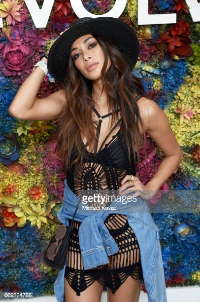 Singer Nicole Scherzinger attends the #REVOLVEfestival at Coachella with Moet Chandon on April 16 2017 in La Quinta CA Merv Griffin Estate