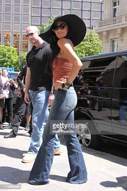 Singer Nicole Scherzinger is sighted as she arrives at the 'hotel de Sers' on June 1 2011 in Paris France