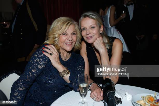 Singer Nicoletta and Princess Helene de Yougoslavie attend the 25th 'Gala de l'Espoir' at Theatre des ChampsElysees on October 17 2017 in Paris France