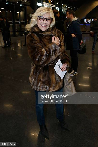 Singer Nicoletta attends Michael Gregorio performs for his 10 years of Career at AccorHotels Arena on December 16 2016 in Paris France
