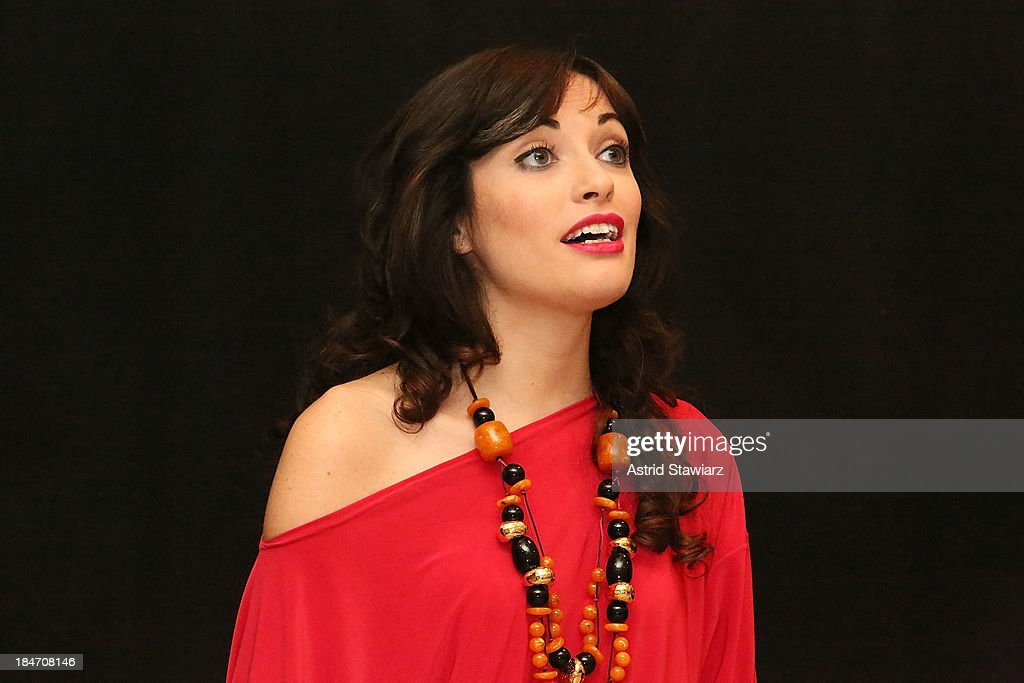 Singer Nicoletta Battelli performs during the 'Voices Of Italy' press preview on October 15, 2013 in New York, United States.