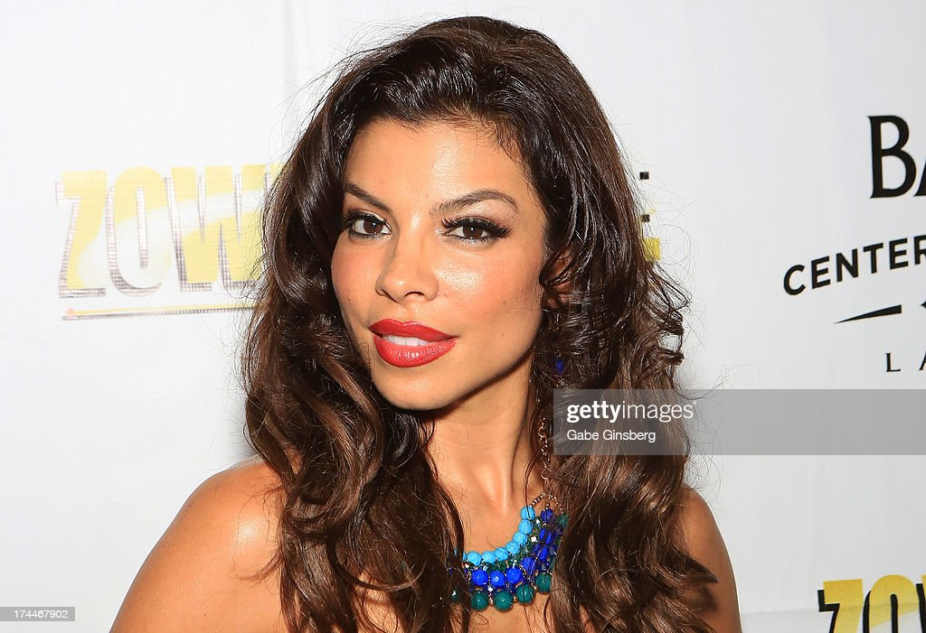 Singer Nieve Malandra of Zowie Bowie arrives at the 'Zowie Bowie Late Night' show at Bally's Las Vegas on July 25, 2013 in Las Vegas, Nevada.
