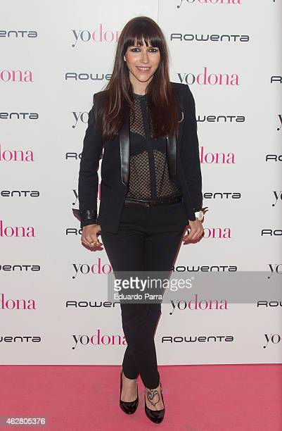 Singer Nika attends 'Yo Dona' party photocall at Shoko disco on February 5 2015 in Madrid Spain