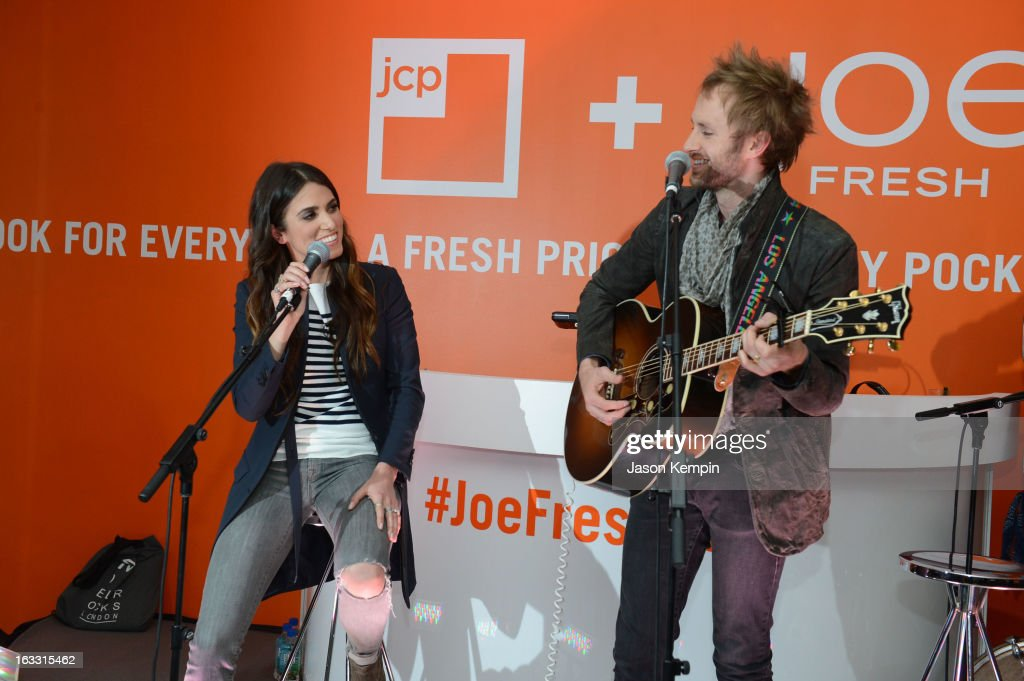 Singer <a gi-track='captionPersonalityLinkClicked' href=/galleries/search?phrase=Nikki+Reed&family=editorial&specificpeople=220844 ng-click='$event.stopPropagation()'>Nikki Reed</a> and musician Paul McDonald perform during Joe Fresh at jcp launch event on March 7, 2013 in Beverly Hills, California.