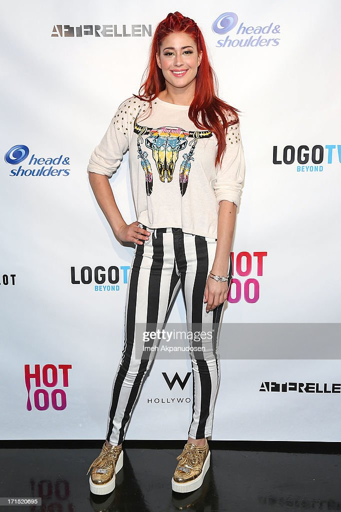Singer Nikki Williams attends Logo's 'Hot 100' Party at Drai's Lounge in W Hollywood on June 25, 2013 in Hollywood, California.