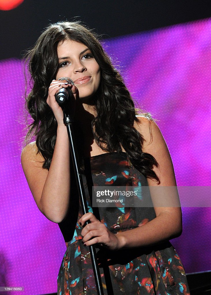 Singer Nikki Yanofsky performs onstage at 2011 MusiCares Person of the Year Tribute to Barbra Streisand at Los Angeles Convention Center on February...