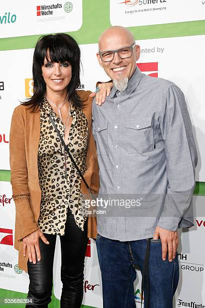 Singer Nina and singer Thomas Duerr alias Hausmeister Thomas D of the band 'Die Fantastischen Vier' attends the Green Tec Award at ICM Munich on May...