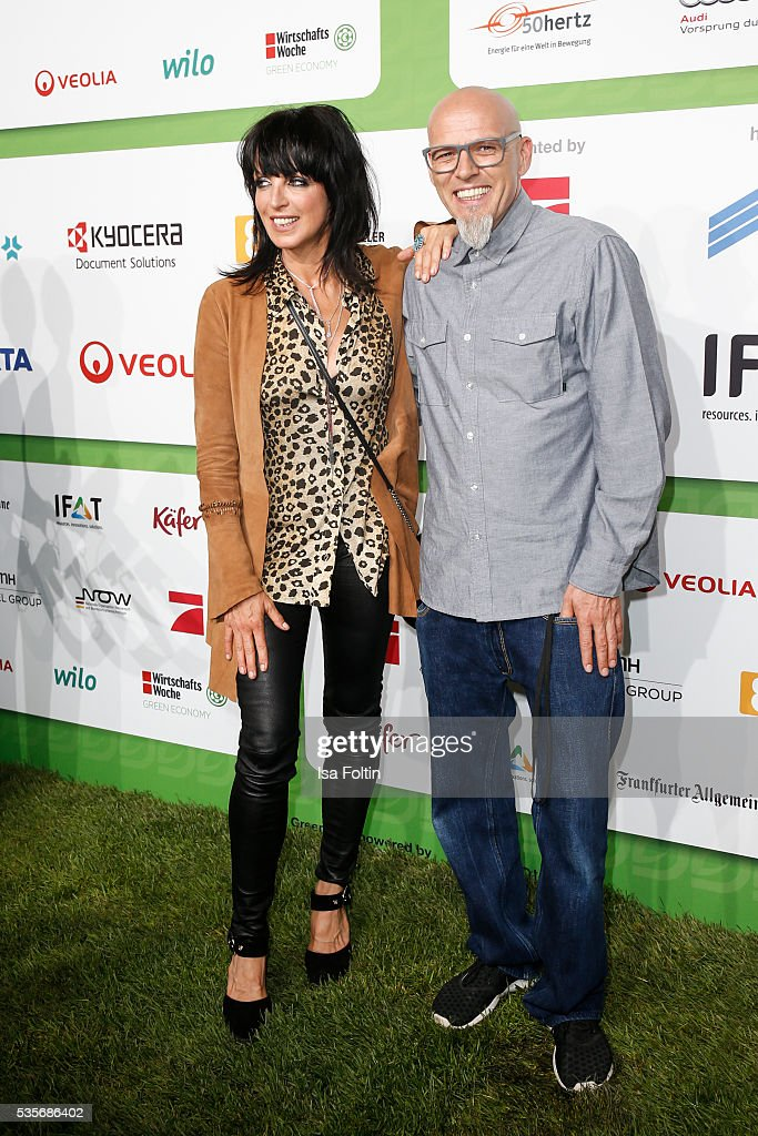 Singer Nina and singer Thomas Duerr alias Hausmeister Thomas D of the band 'Die Fantastischen Vier' attends the Green Tec Award at ICM Munich on May 29, 2016 in Munich, Germany.