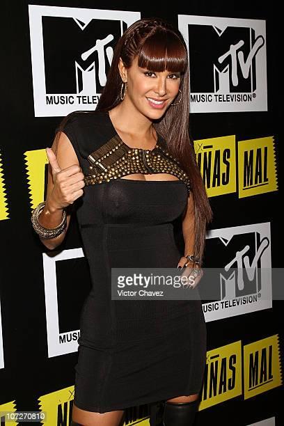 Singer Ninel Conde attends the MTV 'Niñas Mal' soap opera party at Ragga Antara Polanco on December 1 2010 in Mexico City Mexico