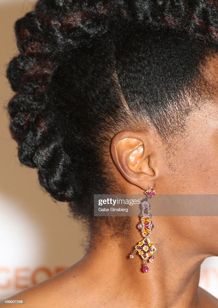 Singer Nnenna Freelon arrives at 'Georgia On My Mind Celebrating The Music Of Ray Charles' launch party at The Venetian Las Vegas on September 23...