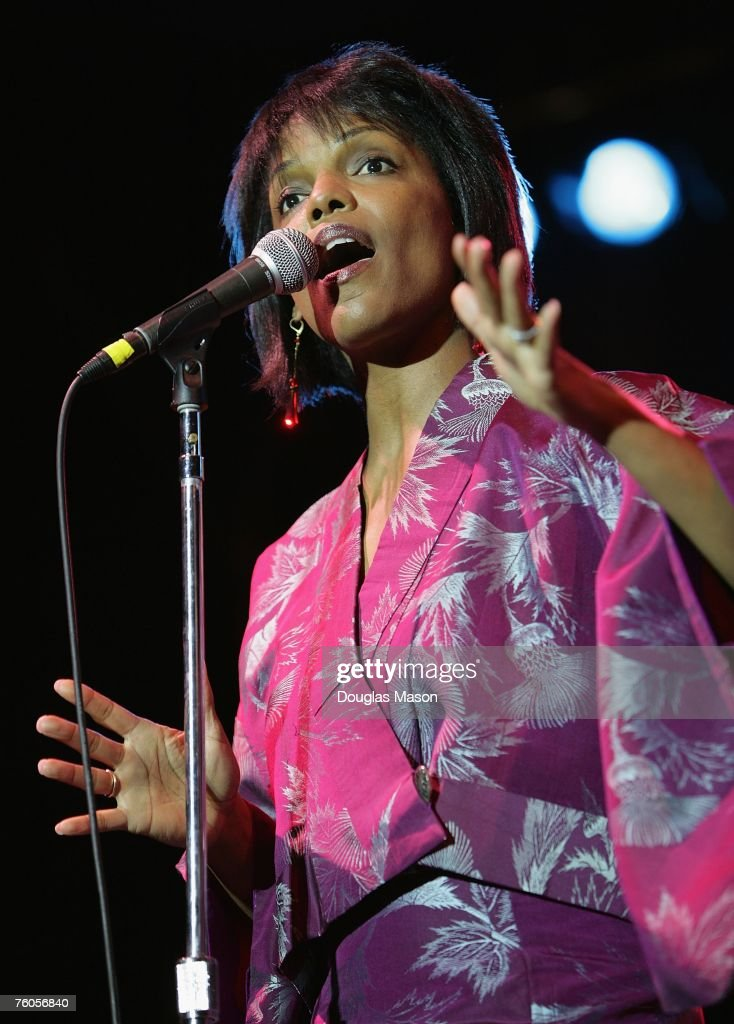 Singer Nnenna Freelon performs at the JVC Jazz Festival 2007 at the Tennis Hall of Fame August 10 2007 in Newport Rhode Island
