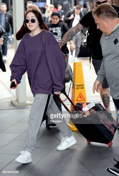 SYDNEY NSW Singer Noah Cyrus meets fans as she walks through Sydney International Airport in Sydney New South Wales