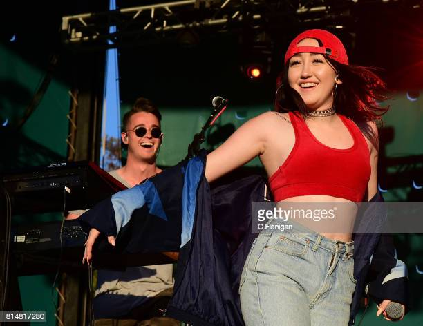 Singer Noah Cyrus performs during the 2017 997 Now Summer Splash at California's Great America on July 14 2017 in Santa Clara California
