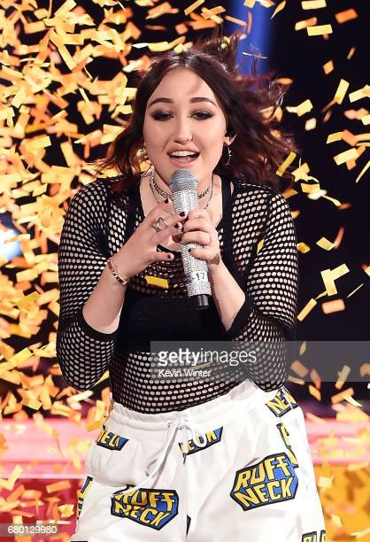 Singer Noah Cyrus performs onstage during the 2017 MTV Movie And TV Awards at The Shrine Auditorium on May 7 2017 in Los Angeles California