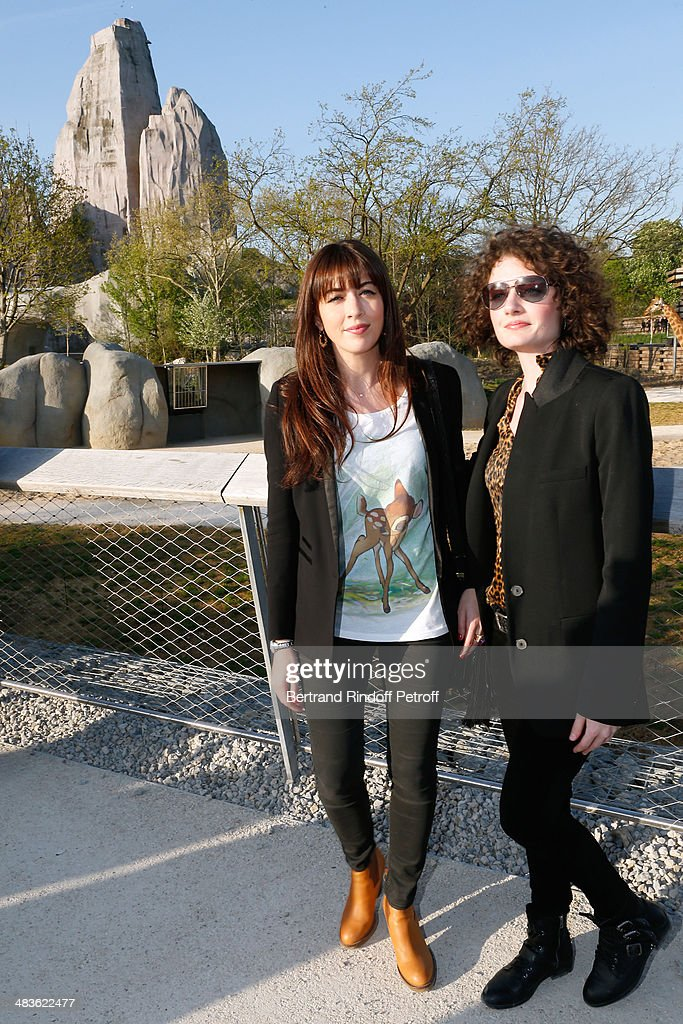 Singer <a gi-track='captionPersonalityLinkClicked' href=/galleries/search?phrase=Nolwenn+Leroy&family=editorial&specificpeople=4343653 ng-click='$event.stopPropagation()'>Nolwenn Leroy</a> and her sister Kay attend the Private visit of the Zoological Park of Paris due to reopen on April 12. On April 9, 2014 in Paris, France.